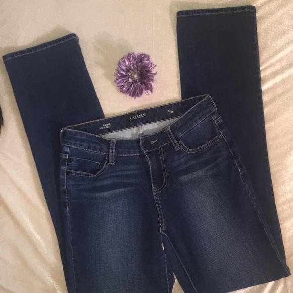 "Women/'s Liverpool Jeans Animal Print Sadie Straight Black NWT 26/"" x 31/"" Size 2"